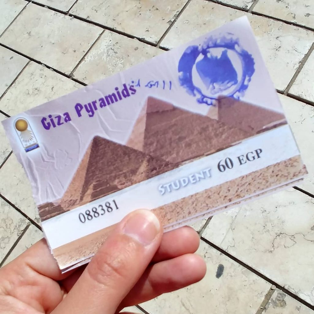 entrance ticket Cairo Pyramids