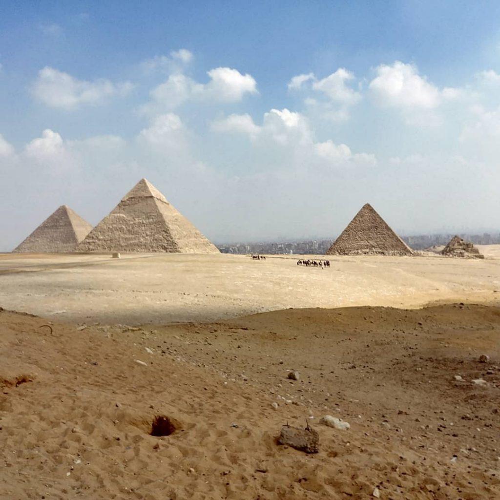 Cairo Pyramids landscape view