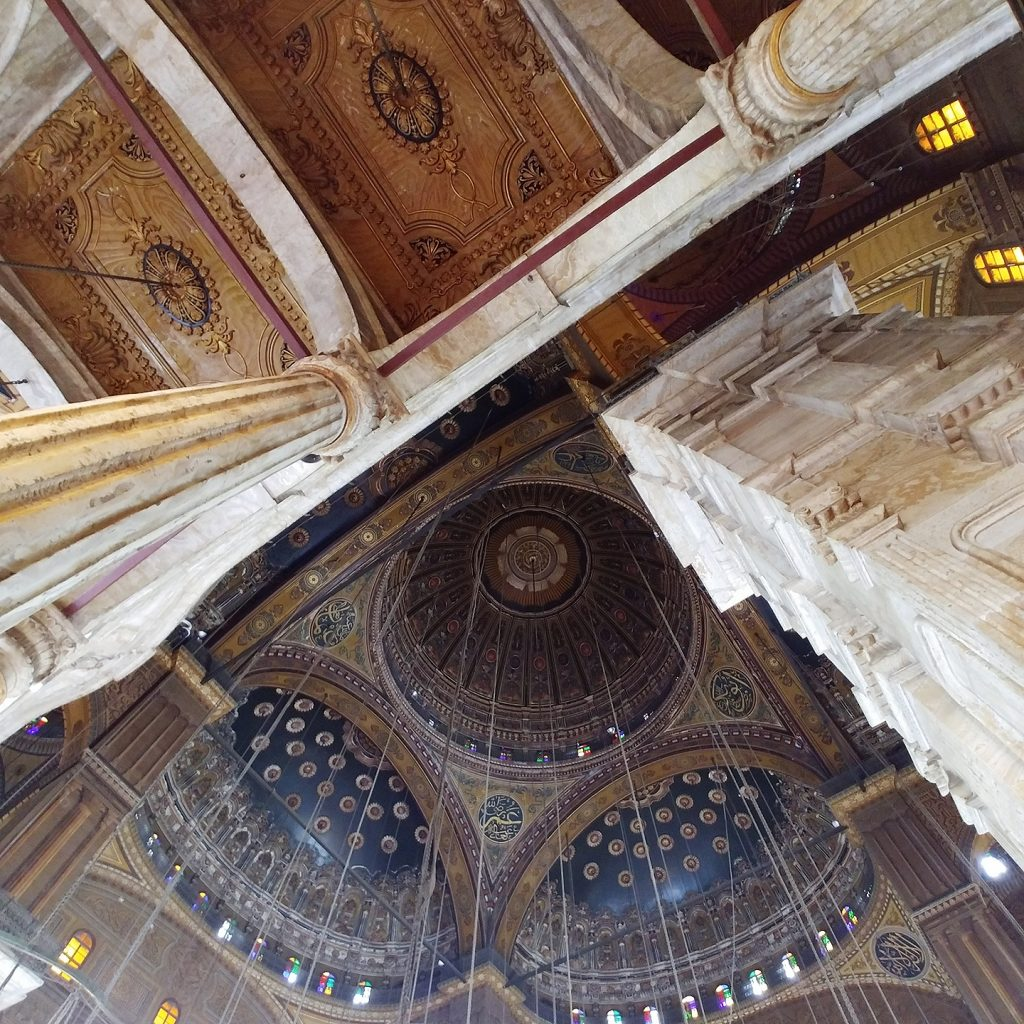 interior ceiling of Citadel of Saladin - Cairo
