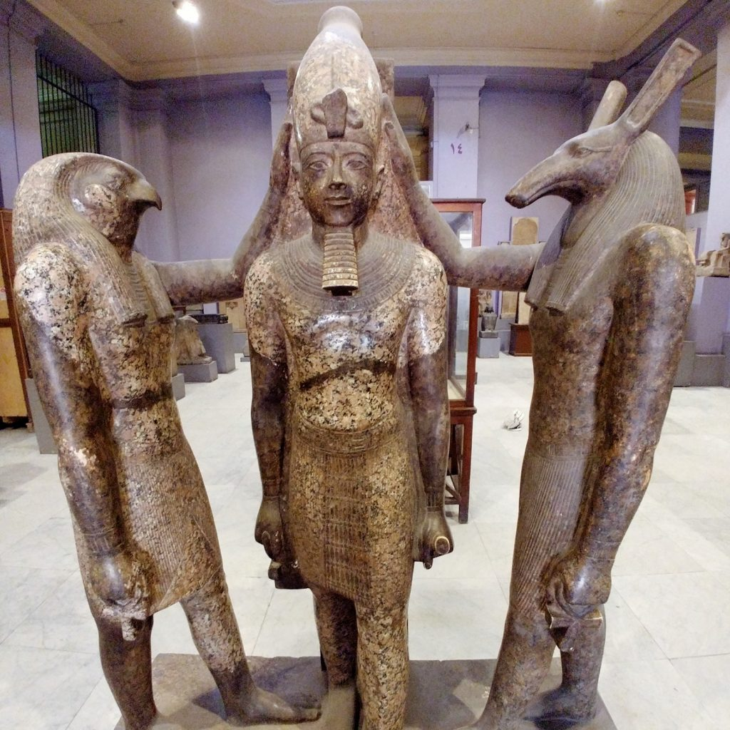 god statues in the egyptian museum of Cairo