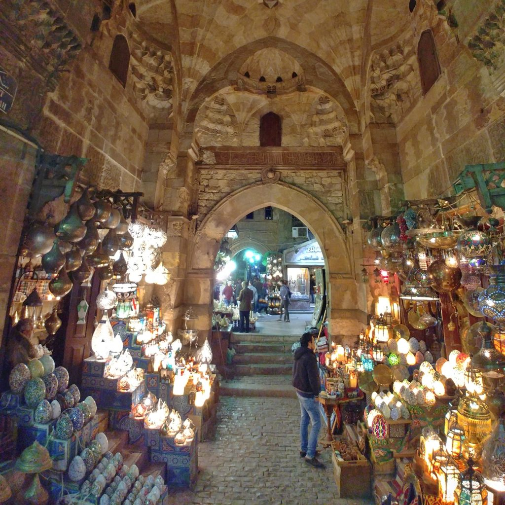 souvenirs at khan el khalili souq in cairo