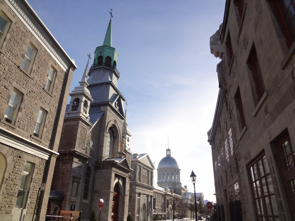 building perspective in Old Montreal