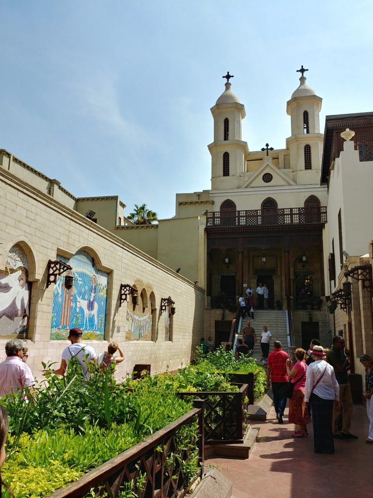 main entrance of the Hanging Church - Cairo