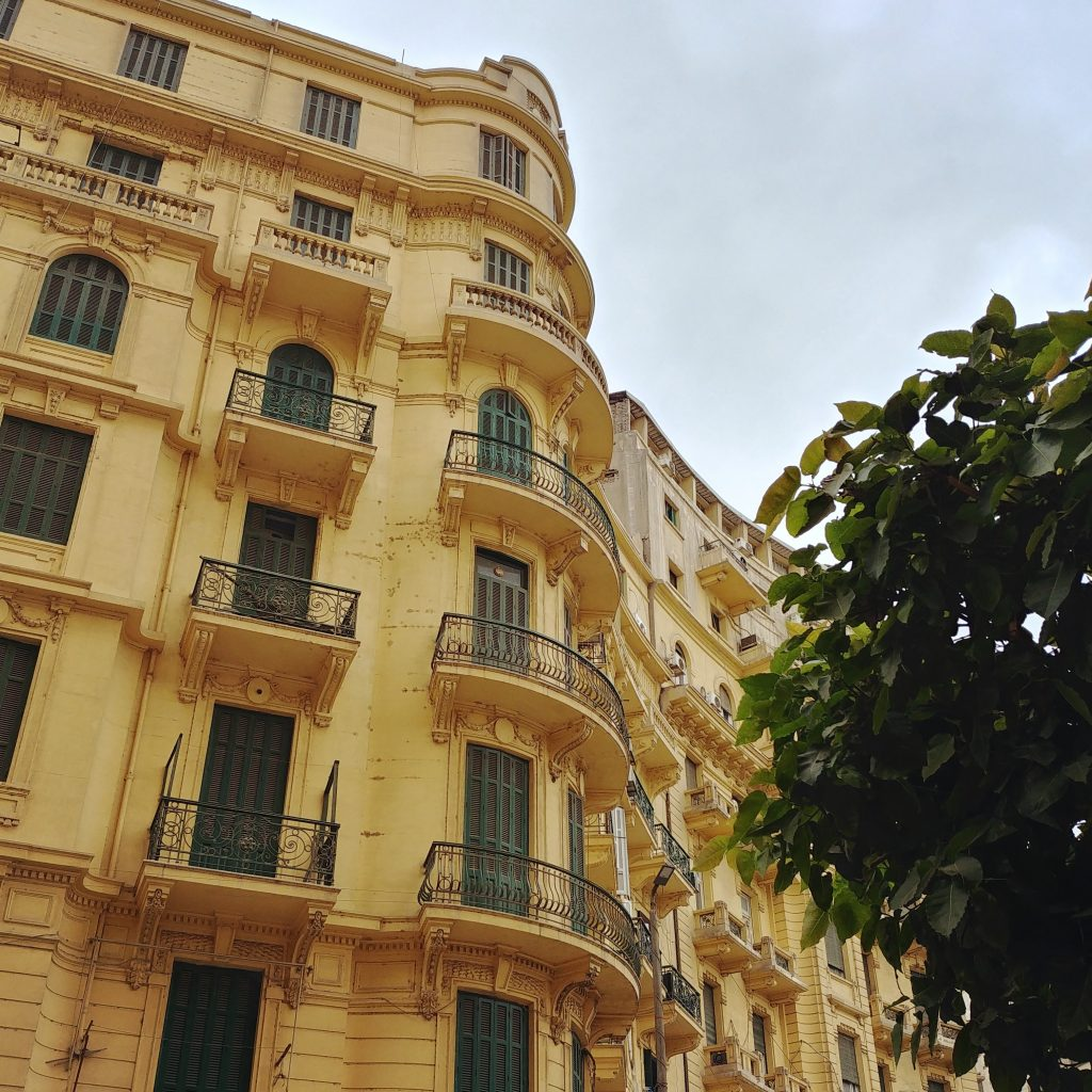 yellow building in downtown Cairo Egypt