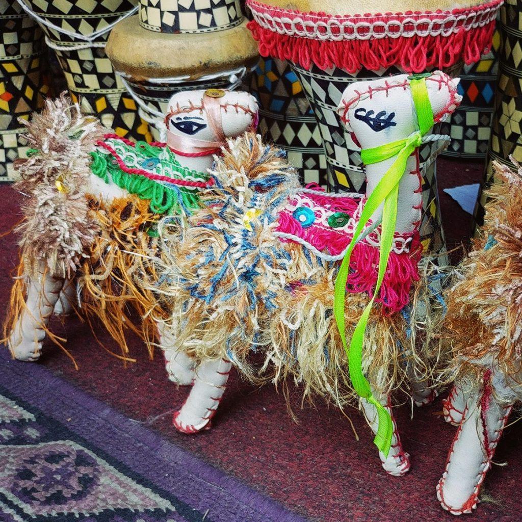 camel toys at khan el khalili souq in cairo