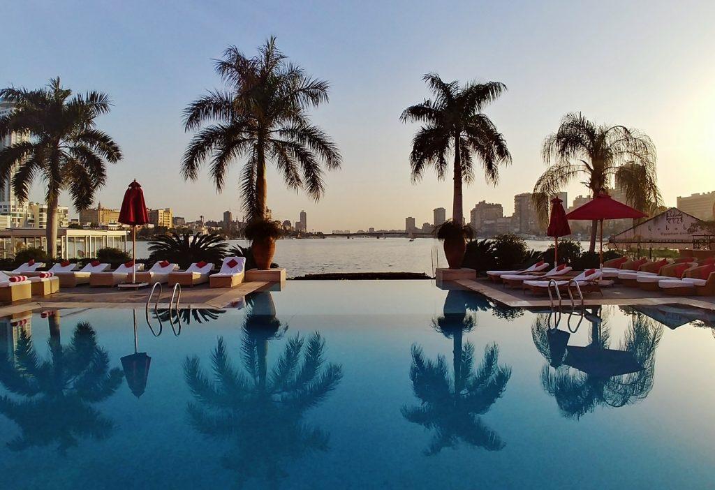 pool view at the Sofitel Gezira Cairo Downtown