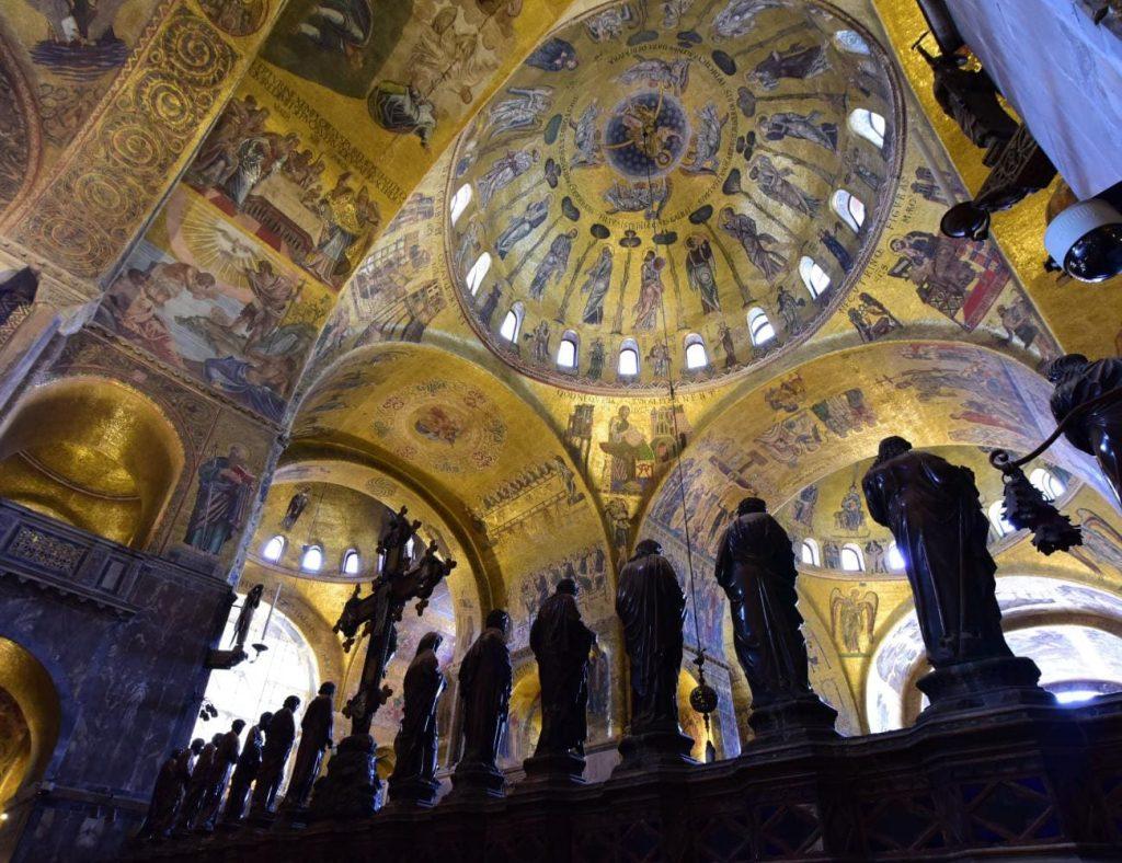 Indoor paintings inside St. Mark's Basilica - Venice