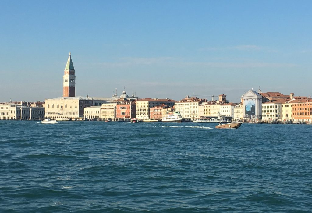 view of Venice from the sea