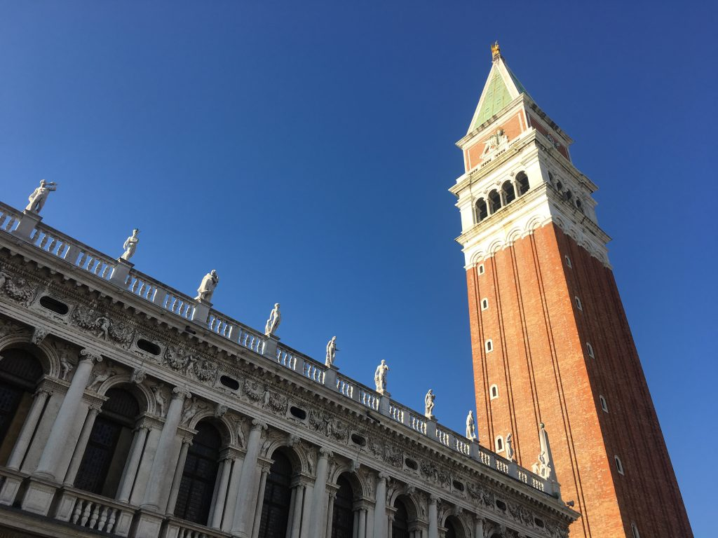 outdoor view of St. Mark's Campanile in Venice