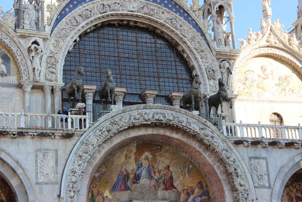Facade details of St. Mark's Basilica - Venice