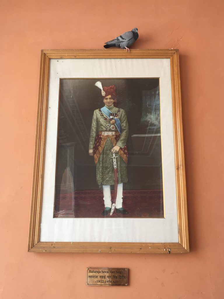 one of the king portrait in the City Palace of Jaipur