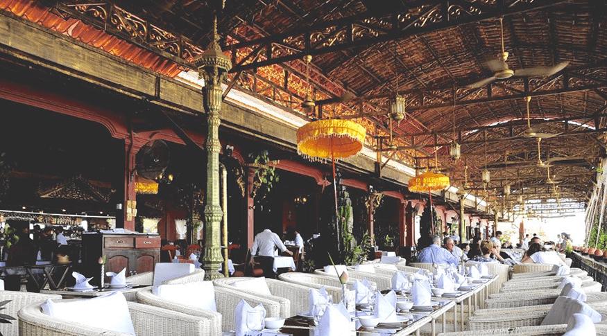 restaurant on the Mekong river