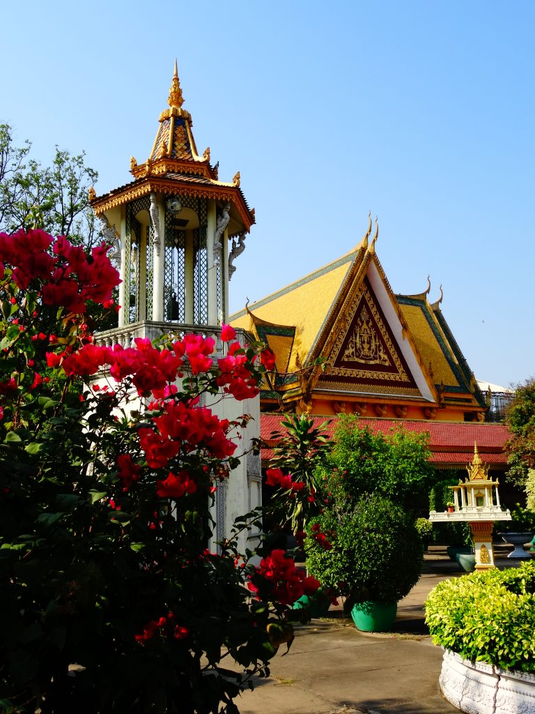 garden and pagoda in the royal palace courtyard