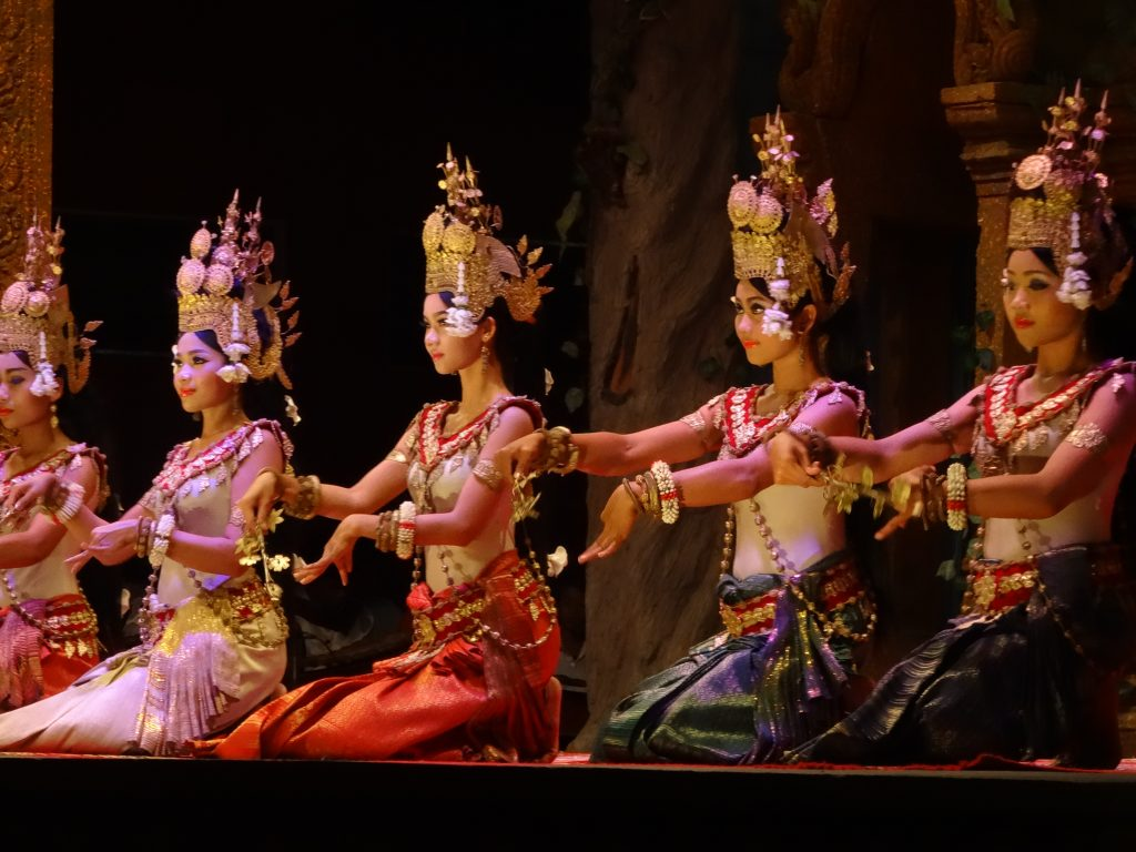 traditional Khmer dancers