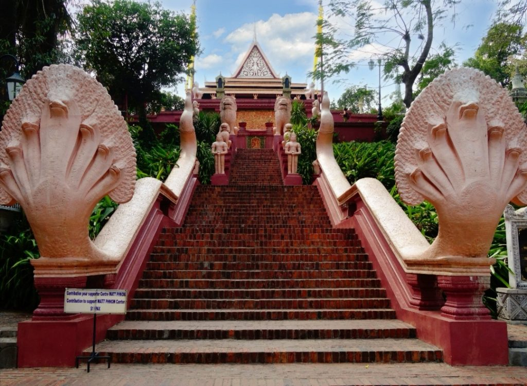 entrance staircase of the Wat Phnom